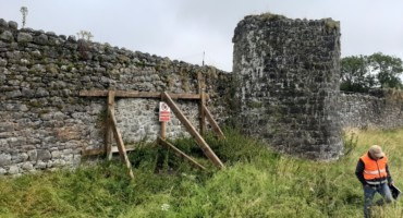 Athenry town walls conservation works, 2021