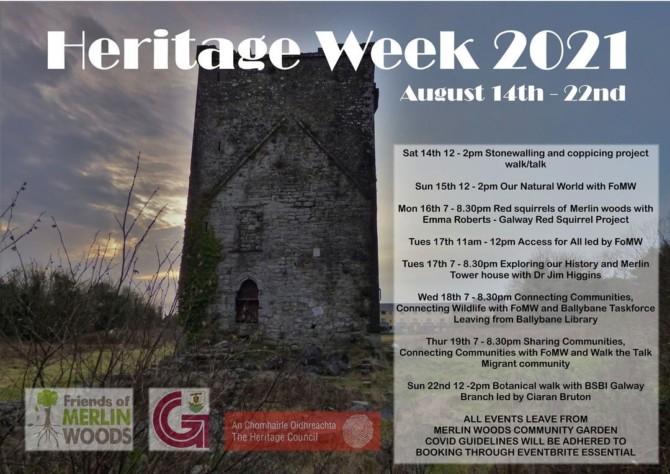 Heritage week in Merlin Woods, 2021