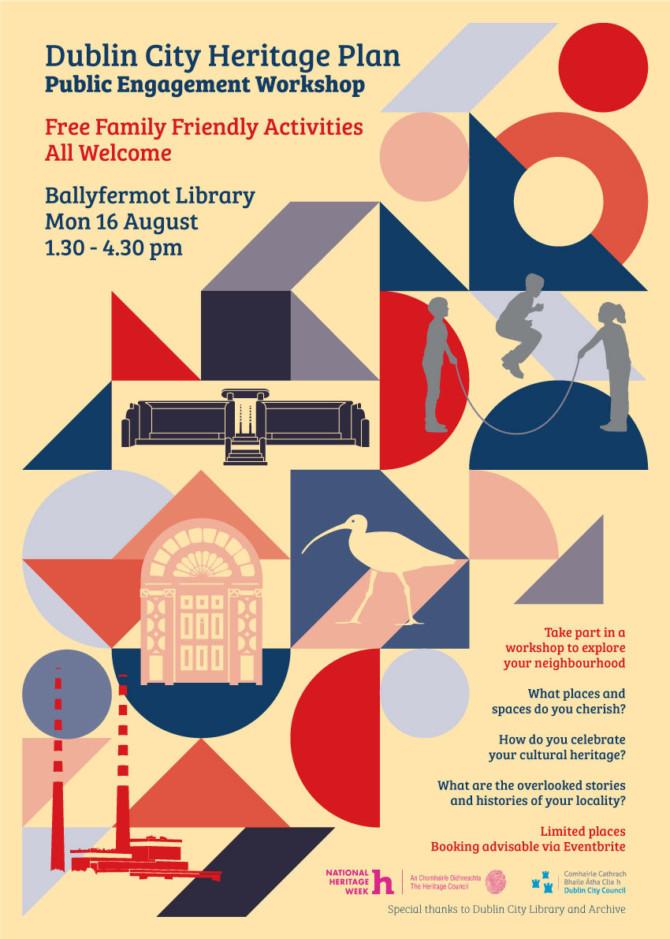 Creative workshops to explore the heritage of your neighbourhood (Ballyfermot)