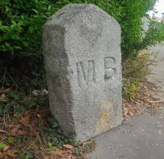 Heritage boundary stones in the streetscape and landscape of Ireland