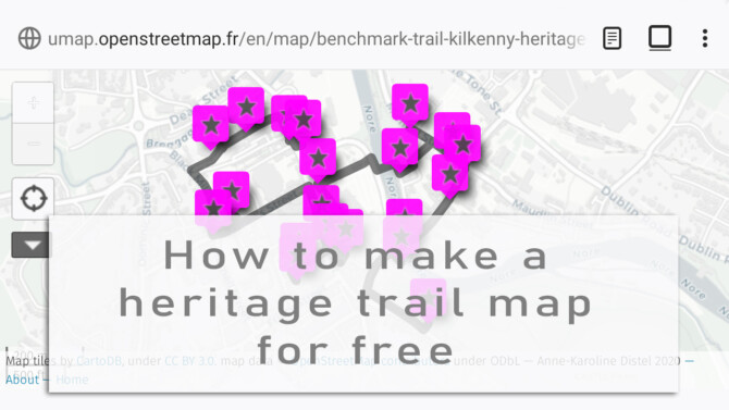 Video Tutorial: Make your own heritage trail map for free
